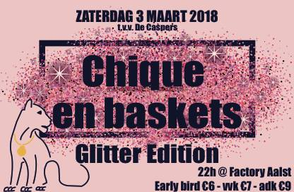 18 03 01 Denderleos present Chique en baskets Glitter edition The Factory Zaterdag 3 maart 2018
