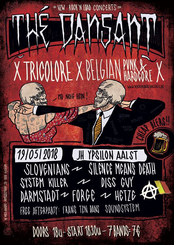 18 05 17 Thédansant Tricolore A night of belgian punk hardcore JH Ypsilon Zaterdag 19 mei 2018