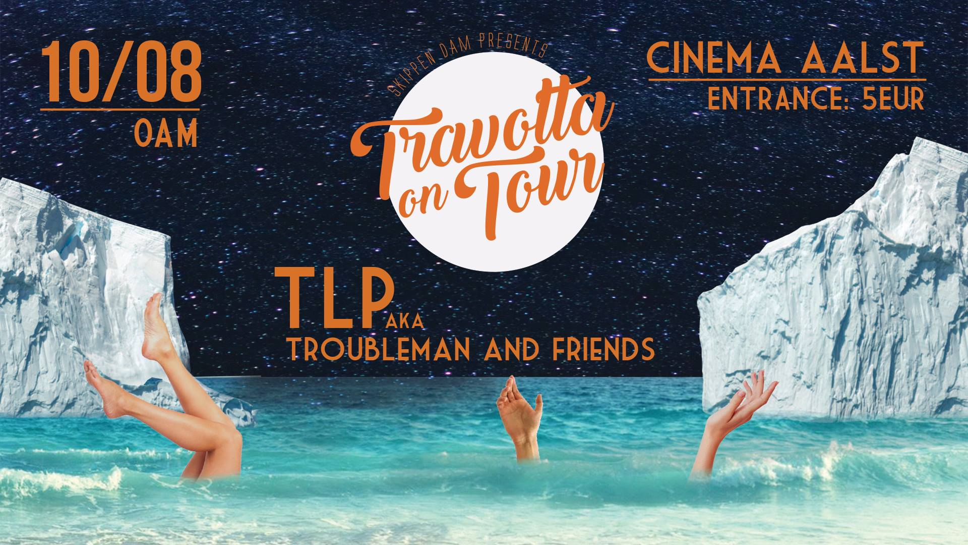 18 08 09 Skippen Dam Travolta on Tour TLP aka Troubleman FriendsCinema Vrijdag 10 augustus 2018