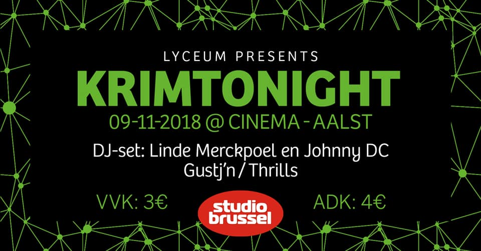 18 11 08 Klassenfuif Krimtonight Cinema Vrijdag 9 november 2018