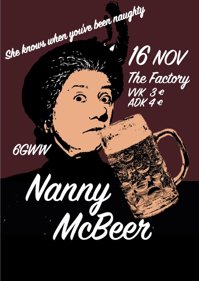 18 11 16 Klassenfuif Nanny Mc Beer The Factory Vrijdag 16 november 2018