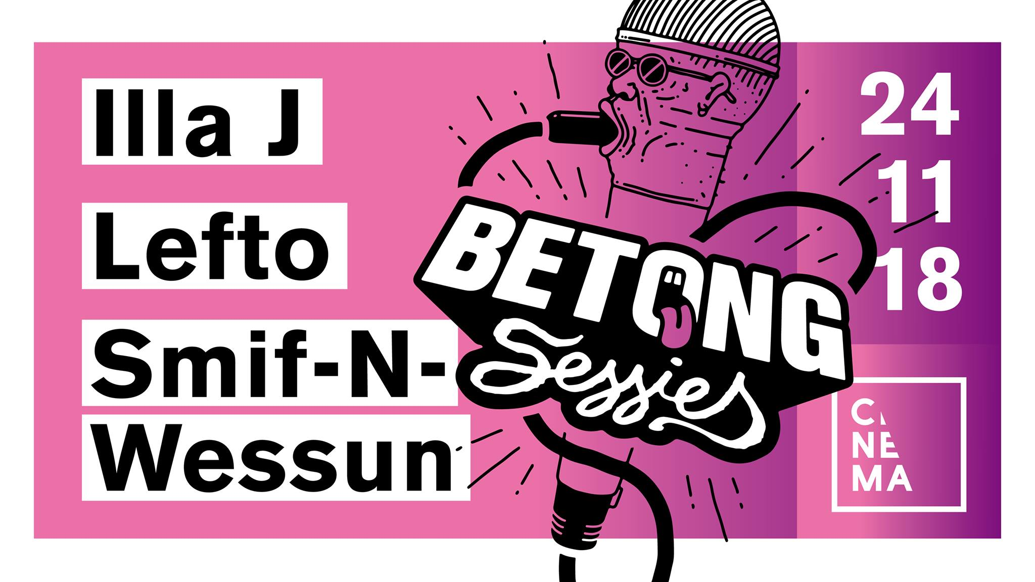 18 11 22 Betong Sessies Cinema Zaterdag 24 november 2018